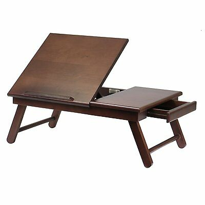 Portable Laptop Lap Desk Computer Bed Tray Foldable Legs Table Stand Adjustable
