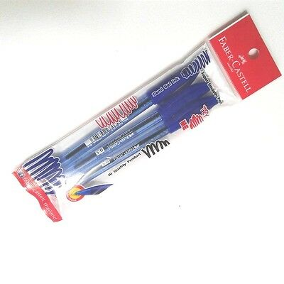 3pc 0.5 Blue Smooth Ball Pens Faber- Castell Semi Gel Ink Office Student School