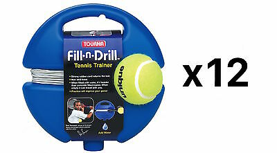 Tourna Fill n Drill Trainer Youth Tennis Practice Kids Aid Youth Tool (12-Pack)