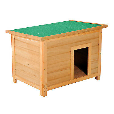 """Pawhut 33"""" Elevated Wooden Dog Kennel House Small Animal Weatherproof Outdoor"""
