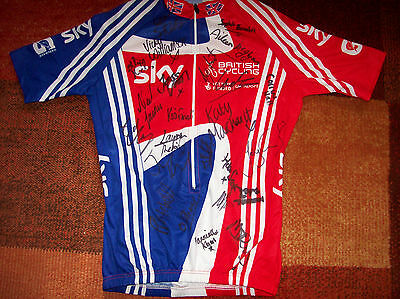 Team GB adidas Olympic 2012 Gold Medallists Signed Cycling Jersey Shirt