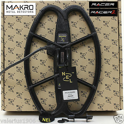"New NEL HUNTER 12.5""x8.5"" DD search coil for Makro Racer + coil cover + fix bolt"