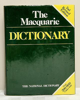 The Macquarie Dictionary Book - 2nd Revised Edition - Australian Seller