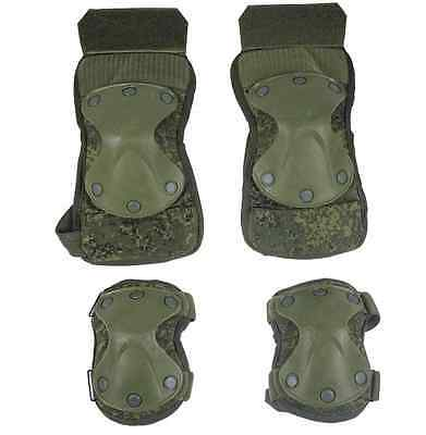Original Russian Army 6B51 Knee Pad & Elbow Pad SET Ratnik Digital Flora NEW