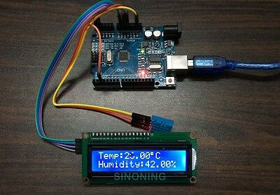 Arduino+LCD1602/I2C+DHT11 hygrothermograph thermometer DIY kit Smart Home