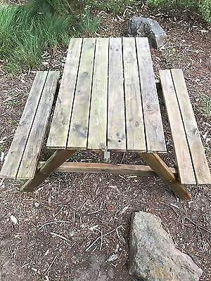 Outdoor Patio Picnic Wooden Table