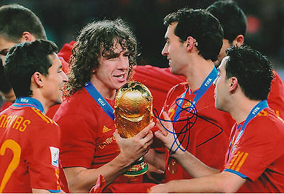 Carles Puyol signed 8x12 inch photo autograph