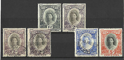 Tonga - 1920- 6 stamps - Mint & used