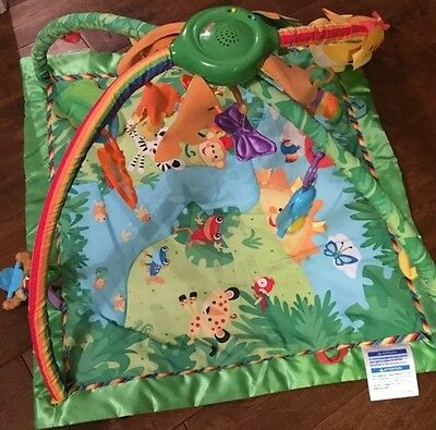 Fisher-Price music and light Rainforest baby Gym activity play mat