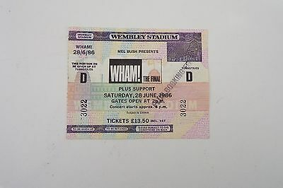 Wham - The Final Concert Ticket - Unused - 1986 Mint