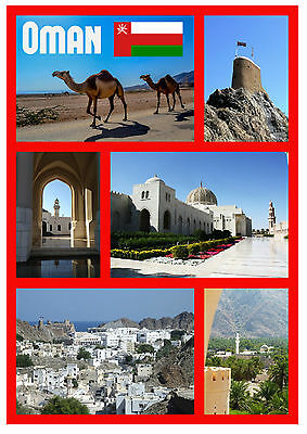 Oman - Souvenir Novelty Fridge Magnet - Sights / Towns - Brand New - Gifts