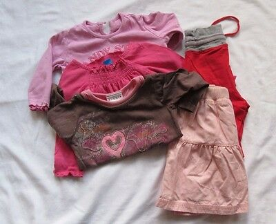 Young baby girl clothes bundle 9-12 months tops, skirt, trousers