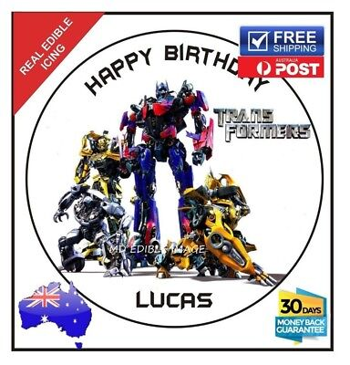 TRANSFORMERS Personalised Custom Edible ICING Cake Decoration Topper Party Image