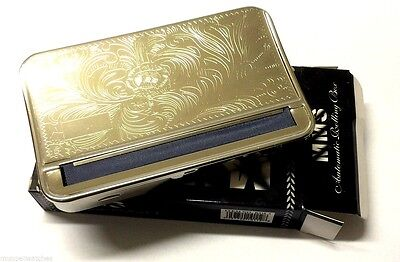 King Size 'mms' Automatic Rolling Machine Strong Metal Box Tobacco Cigarette Tin