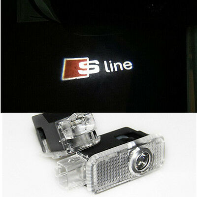 Audi S Line Under Door Led Puddle Projector Ghost Lights A3 A4 A5 A6 A7 Q5 Q7 Tt