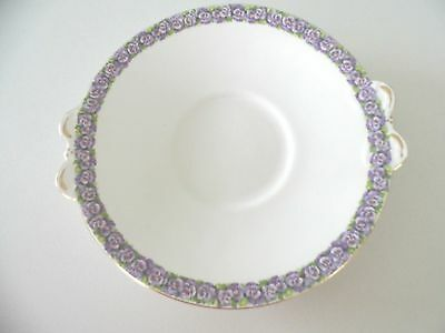 Tuscan China Ware Vintage Serving Dish Pansy Pattern 1960's