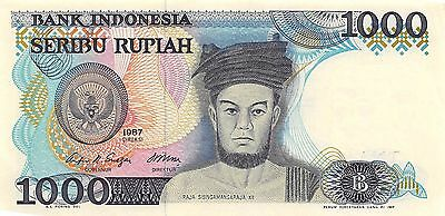 Indonesia  1000 Rupiah  1987  Series TNA  circulated Banknote A30S