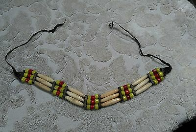 Vintage Indian Beaded Necklace 27""