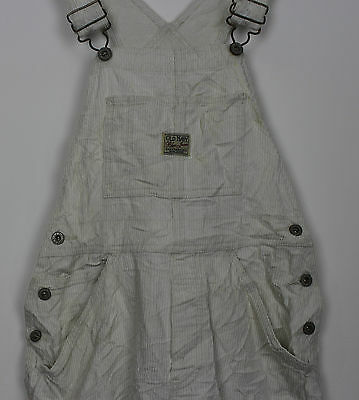 Vtg Ladies Beige Corduroy Dungarees Teens Festival Womens Grunge Overalls Xs