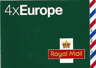 Mi3 - Gb 2010 4 X Europe Up To 20G Stamp Booklet - Cylinder Mnh