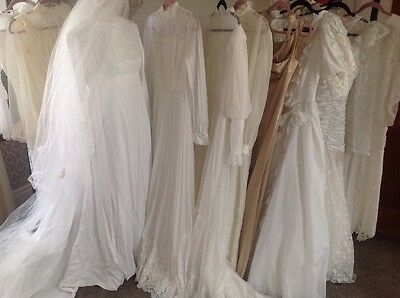 10 x original vintage wedding dress wholesale job lot 50s 60s 70s VGC Lot 1