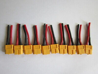 """50pc FEMALE JST RC Plug Connector 7/"""" pigtail battery speed controller wire *USA*"""