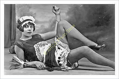 p345 French maid flapper girl female glamour risqué 1920s photo