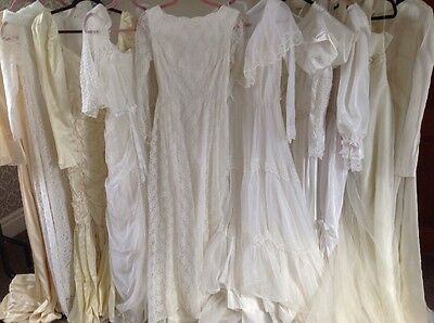10 x original vintage wedding dress wholesale job lot 40s 50s 60s 70s VGC Lot 2