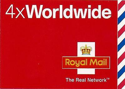 MJ1 - GB 2003 4 x WORlDWIDE STAMPS SELF ADHESIVE BOOKLET