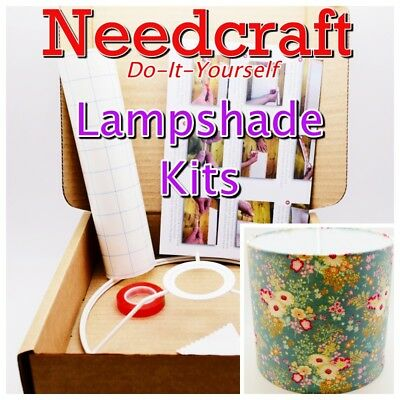 Lampshade Kits 20/25/30/40/45cm Make Your Own, DIY. Made in the UK by Needcraft