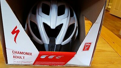 ADULTS SPECIALIZED 'CHAMONIX' silver and grey CYCLE HELMET SIZE 54-62cm