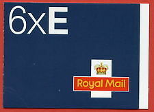 MH1 -  GB 2002 6 x E STAMPS SELF ADHESIVE BOOKLET