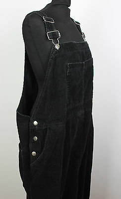 Vintage Black Corduroy Ladies Dungarees Festival Overalls Womens Playsuit L to X