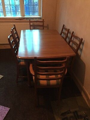 Vintage Country Style 6 Seater Extendable Dining Room Table Oak Teak