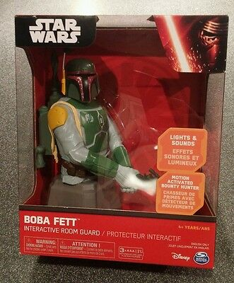 Star wars Boba Fett interactive room Guard Disney Spin master