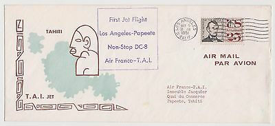 First Jet Flight Los Angeles To Papeete 1961 Cover