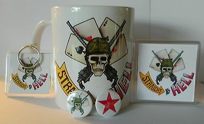 THE CLASH 'STRAIGHT TO HELL' -  11oz COLLECTORS MUG - MAGNET - KEYRING - BADGES