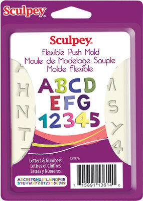 Sculpey Flexible Push Mold Letters & Numbers APM-76