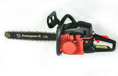 "New 58CC 3.4HP 2-Stroke Gas Chainsaw Air-cooled Cutting Machine Kit & 20"" Blade"