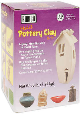 Moist Pottery Clay 5lb Gray X-11