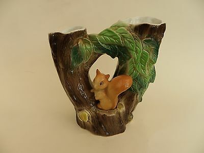 Hornsea Fauna Double Vase with Squirrel.