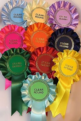 *REDUCED* Rosettes 10 Pack:Clear Round,Birthdays ETC *FREE POSTAGE*