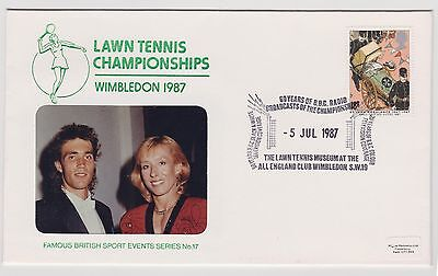 Lawn Tennis Championships Wimbledon 1987 Cover