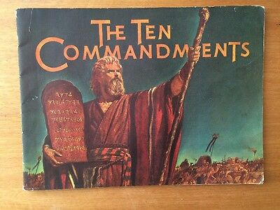 The Ten Commandments by Cecil B DeMille - souvenir movie booklet - 1956