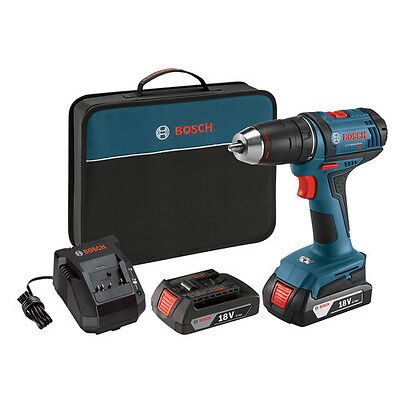 """18-Volt Lithium-Ion 1/2"""" Compact Tough Drill/Drive Kit Bosch Tools DDB181-02 New"""