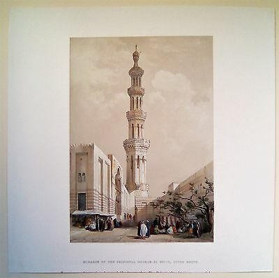 Mosquee A Siout Egypte Et Nubie, David Roberts, Lithographie Originale 1842-1849