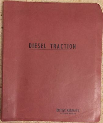 Vintage British Rail Diesel Traction training manual 1967 MINT