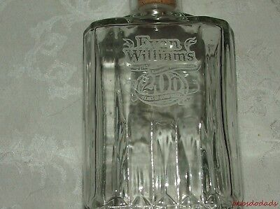 Vintage Collectible Evan Williams 200 Anniversary Whiskey Liquor Glass Decanter