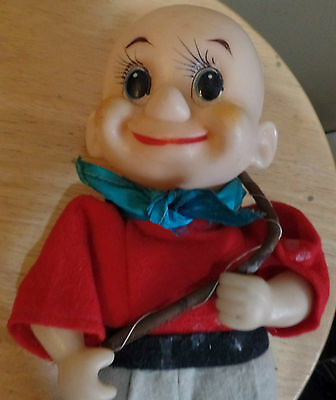"Very OLD 10 1/2"" ELMER FUDD Doll with FELT Clothes & Plastic Head"
