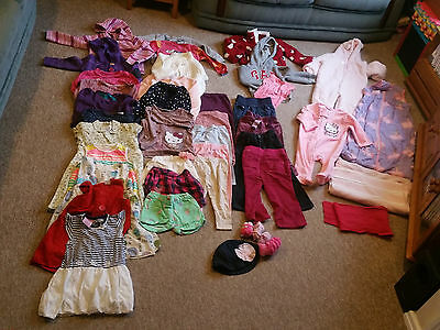 Baby Girl Bundle of over 40 clothes, age 9-24 months, including Next,Peppa Pig